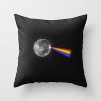 The Dark Side Of The Moo… Throw Pillow