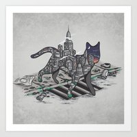 City Cat Art Print