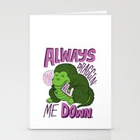 Draggin' Me Down Stationery Cards