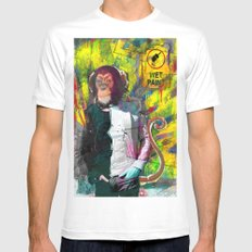 Wet paint. SMALL Mens Fitted Tee White