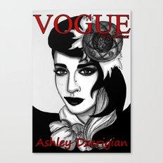 Ashley Dzerigian in VOGUE Canvas Print
