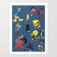 Some of my childhood superheroes  Art Print