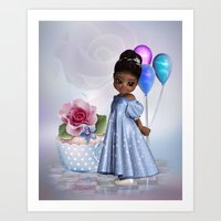 birthday Art Prints featuring Birthday by Illu-Pic-A.T.Art