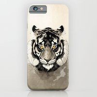 tiger iPhone & iPod Cases featuring Tiger by Rafapasta