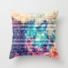 Galaxy Tribal Throw Pillow