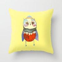 Owl Chick Throw Pillow