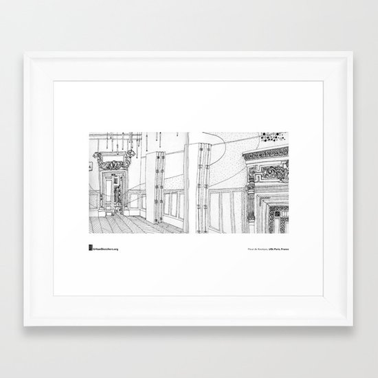"Fleur de Kookyse, ""Mairie du 13e, Paris"" Framed Art Print"