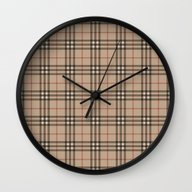 Burberry Plaid - Like De… Wall Clock