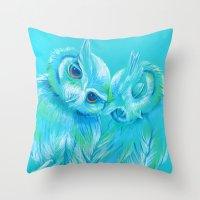 Lovey Owls Throw Pillow