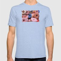 Donuts - JUSTART © Mens Fitted Tee Tri-Blue SMALL