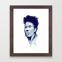 Tom Waits Portrait Framed Art Print