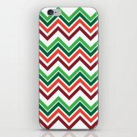 Xmas Chevron iPhone & iPod Skin