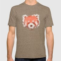 Red Panda Mens Fitted Tee Tri-Coffee SMALL