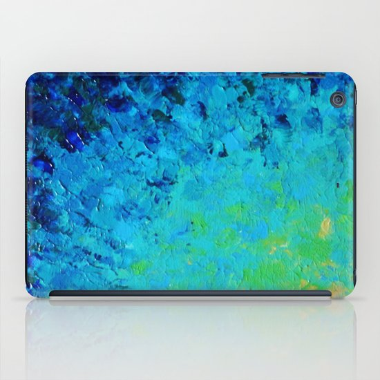 TRUE REFLECTION - Ocean Water Waves Ripple Light Impressionist Bright Colors Ombre Painting iPad Case