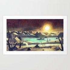 Solitude On Lake Cyanide Art Print