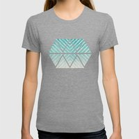To The Beach Womens Fitted Tee Tri-Grey SMALL