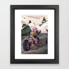 Hyrule Road Warrior Framed Art Print