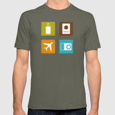 Travel Icons Mens Fitted Tee Lieutenant SMALL
