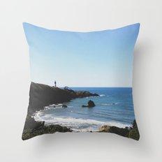 Yaquina Head Lighthouse Couple Throw Pillow