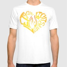 Shine Mens Fitted Tee SMALL White