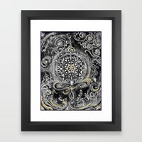Manipura°^Golden Waves in Snowy Space Framed Art Print