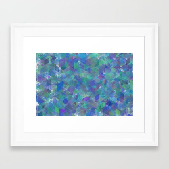 Panelscape + circles  - #1 society6 custom generation Framed Art Print