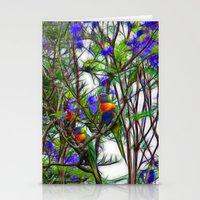 Abstract Beautiful Rainb… Stationery Cards