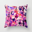 flowers and dandelions Throw Pillow