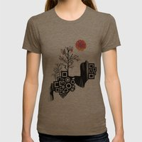Summer Tree Womens Fitted Tee Tri-Coffee SMALL