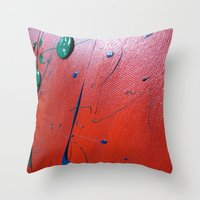 Acryl Pattern Red Throw Pillow