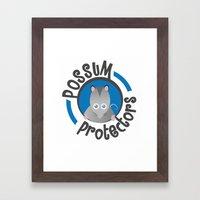 Possum Protectors Framed Art Print