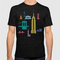 New York Skyline Empire … Mens Fitted Tee Tri-Black SMALL