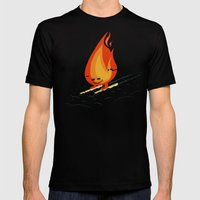 Snow And Fire Mens Fitted Tee Black SMALL