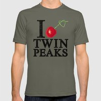 I Love Twin Peaks (Cherry Stem) Mens Fitted Tee Lieutenant SMALL