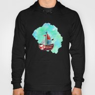 Ship In The Watercolor Hoody