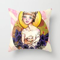 Fawning In Your Eyes Throw Pillow