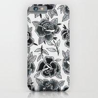 Dozen Roses - Black and White iPhone 6 Slim Case