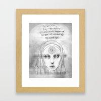 St. Benedict Ghost Framed Art Print