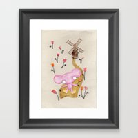 A Mouse With Clogs On, B… Framed Art Print