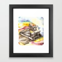 Vintage gadget series: Polaroid SX-70 Model 3 Land Camera Framed Art Print