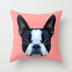 Frenchie / Boston Terrie… Throw Pillow