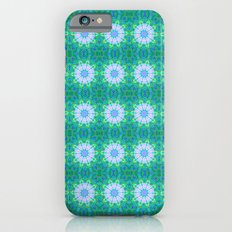 Turquoise Mosaic flowers iPhone 6 Slim Case