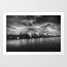 The Thames Barrier Londo… Art Print