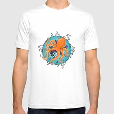 Hexapus Ink 2 White Mens Fitted Tee SMALL