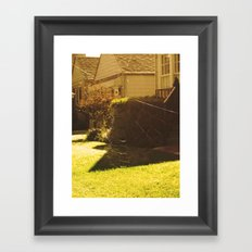 spiderweb. Framed Art Print