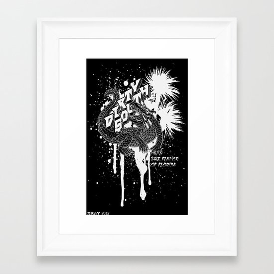 DIRTY SOUTH: The Flavor of Florida Framed Art Print
