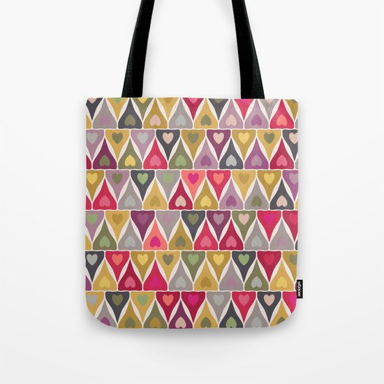 heart stack Tote Bag