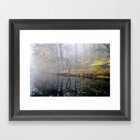 Mist On The River Framed Art Print