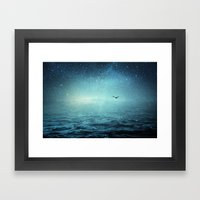 the sea and the universe Framed Art Print