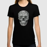 Highly Resolved Ghost (P/D3 Glitch Collage Studies) Womens Fitted Tee Black SMALL